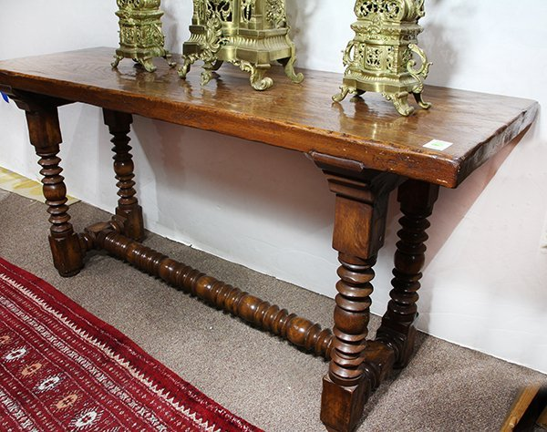 spanish colonial style console table lot 2365. Black Bedroom Furniture Sets. Home Design Ideas