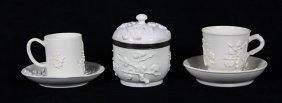 (lot Of 3) Continental Soft Paste Porcelain Group