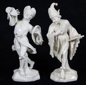 (lot Of 2) Dresden Porcelain Figural Group