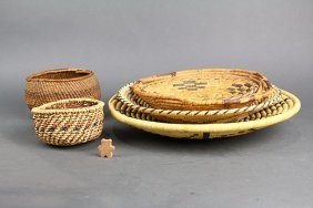 (lot Of 6) Native American Southwest Basketry Group