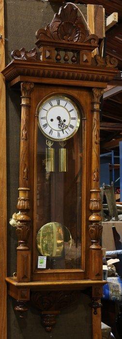 Austrian Walnut Regulator Wall Clock
