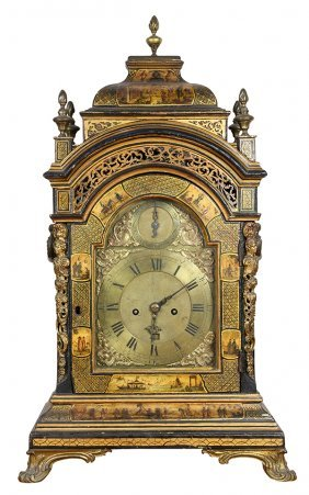 George Iii Double Fusee Bracket Clock By Ellicott,