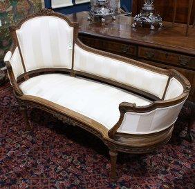 Louis Xv Style Oak Chaise Lounge
