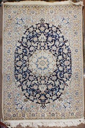 Persian Part Silk Nain Carpet