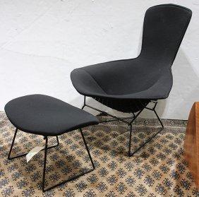"Harry Bertoia For Knoll ""bird"" Chair And Ottoman"