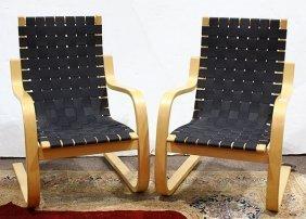 (lot Of 2) Alvar Aalto Designed Pension Armchairs