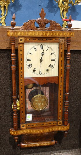 Marquetry Inlaid Regulator Clock