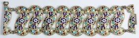 Russian .875 Silver Gilt Bracelet