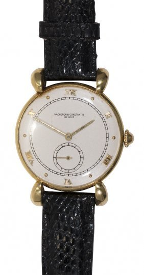 Vacheron And Constantin 18k Yellow Gold Wristwatch