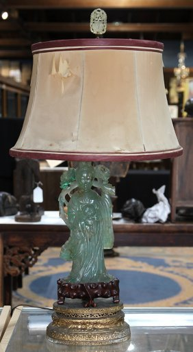 Chinese Lamp With Flourite Beauty