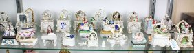 (lot Of 22) French And Continental Porcelain Box Group,