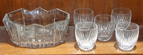 (lot Of 6) Baccarat Crystal Group, Consisting Of A