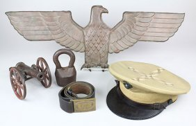 (lot Of 5) Militaria Group, Including A 2nd Lieutenant