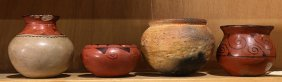 (lot Of 4) Native American Pottery Group, Including Two