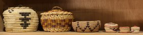 (lot Of 6) Native American Baskets