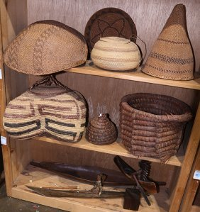 (lot Of 10) Group Of Native American Baskets In Various