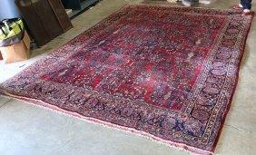 Persian Sarouk Carpet, Circa 1930, 9' X 12'