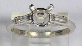 Diamond And Platinum Semi-mounting