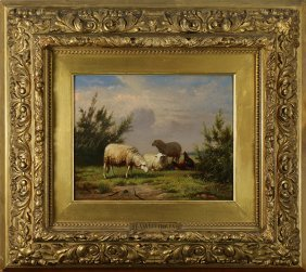 Painting, Sheep In A Field