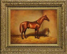 Painting, Horse In A Stable