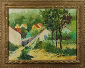 Landscape With Houses, Painting