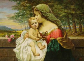 Painting, Madonna And Child