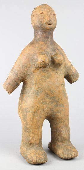 West African Clay Female Figure, Possibly Grasslands,