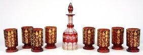 (lot Of 9) Bohemian Glassware Group, The (8) Tumblers