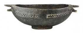 Oceanic Solomon Islands Shell-inlaid Feast Bowl, The