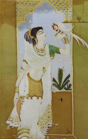 Watercolor, Attributed To Abdur Rahman Chughtai