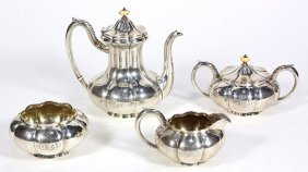 Continental Style Sterling Silver Hollowware Service,