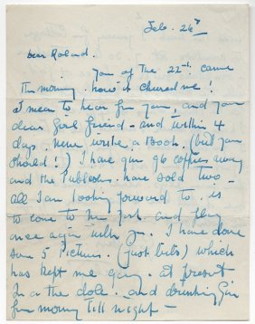 """Roland Young """"topper"""" Gets A Letter"""