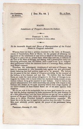 Indians, Maine, Georgia, Andrew Jackson