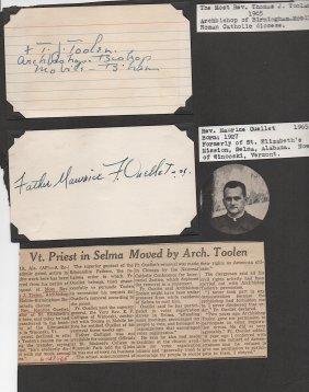 Thomas J. Toolan (1886-1976) American Clergyman