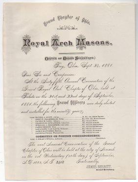 Masons - Troy, Ohio 1881