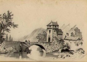 Antique Pencil Drawing [unsigned] Dated October 1856