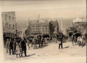 """madison Square, New York City"", 1887 Etching"