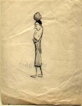 Albert Sterner (1863-1946) Original Sketch