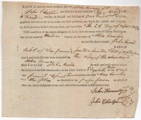 Elizabethtown, Kentucky 1807 Document