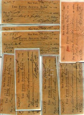 Artist Douglas Volk - 25 Signed Checks