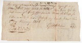 1801 Kentucky Pioneer Document - Elizabethtown