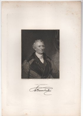 Asher B. Durand Engraved Portrait - John Trumbull