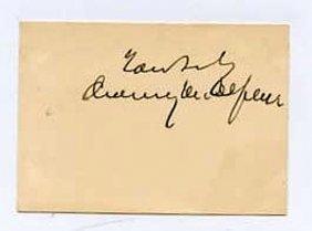 Chauncey M. Depew (1834-1928) Autograph