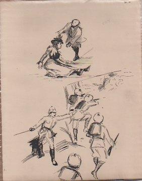 Gore - English Illustrator 1897 Sketch