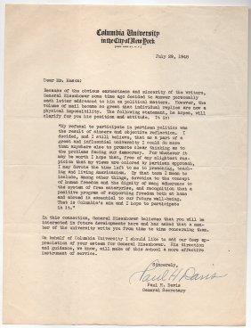 General Eisenhower At Columbia University