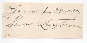 Scott Leighton (1849-1898) Artist Autograph