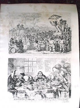 Collection Of 29 James Gillray Etchings