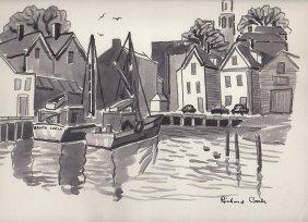 Gloucester Harbor Scene - Carle