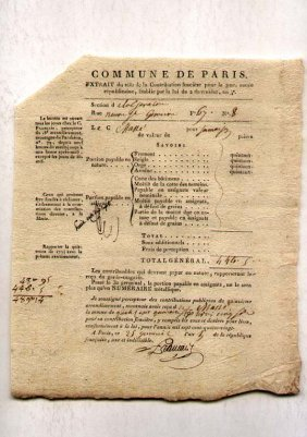 French Mystery Document, 1794