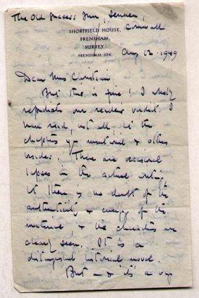Leonard Alfred Strong (1896-1958) English Writer
